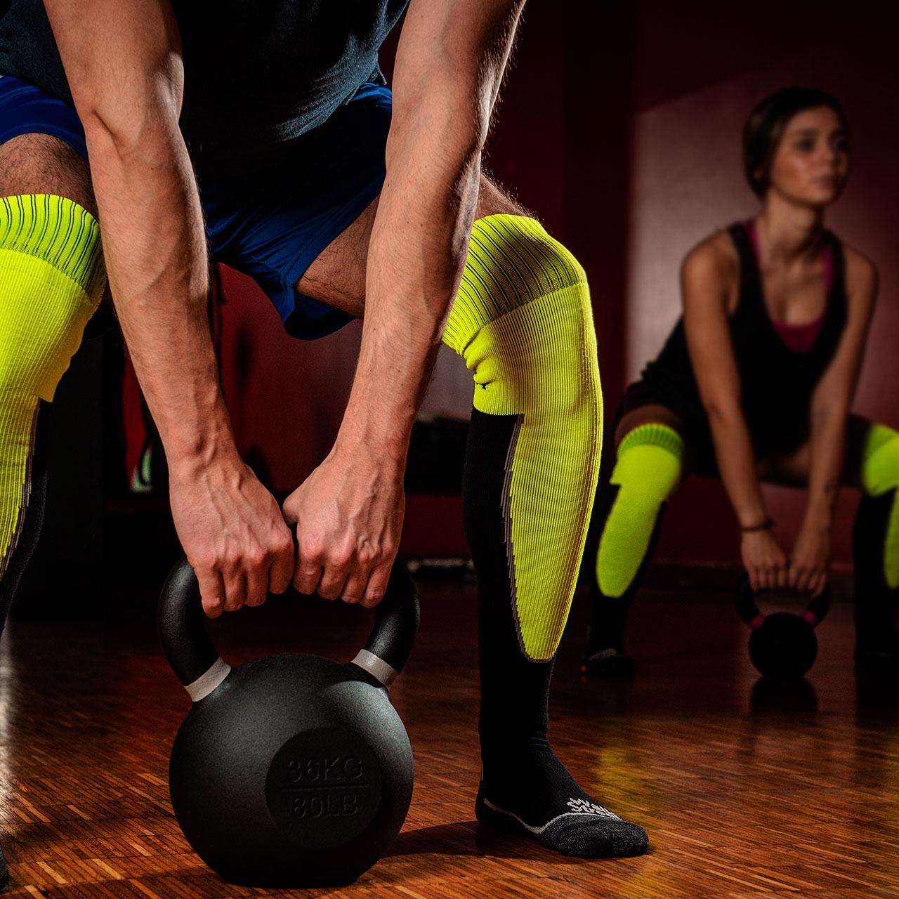 Calze a compressione sopra al ginocchio